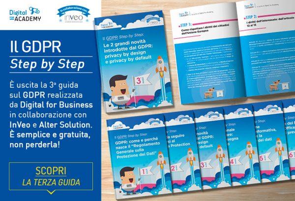 """La 3ª uscita della collana """"Il GDPR Step by Step"""" è già disponibile. Scaricala subito!"""