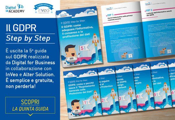 """Scopri la nuova informativa privacy con la 5ª guida della collana """"Il GDPR Step by Step"""""""